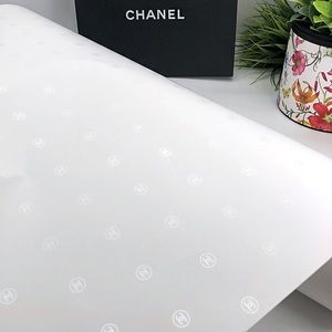 Chanel Authentic CC Logo Gift Wrapping Roll New